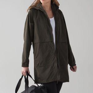 lululemon | Easy As Jacket Olive Green Raincoat 4